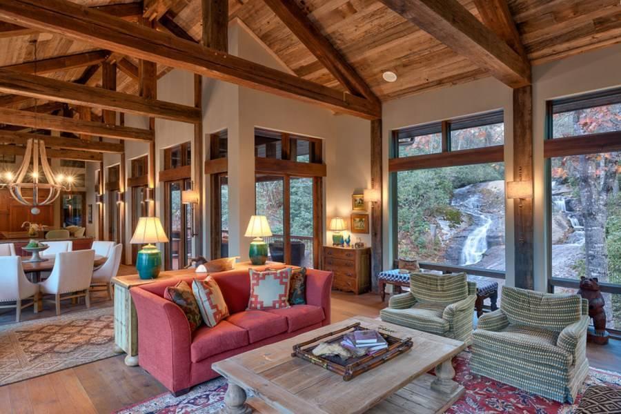 Низкие потолки в деревянном доме - варианты оформления