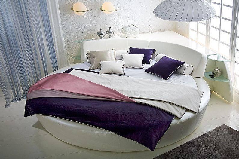 Круглая кровать: устройство и правила выбора | фото