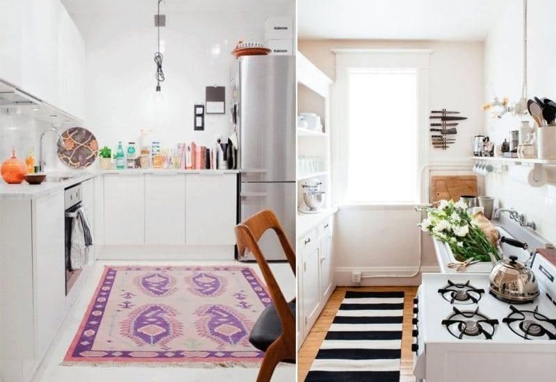 Ковер на кухню: какой выбрать и куда положить (фото примеры)