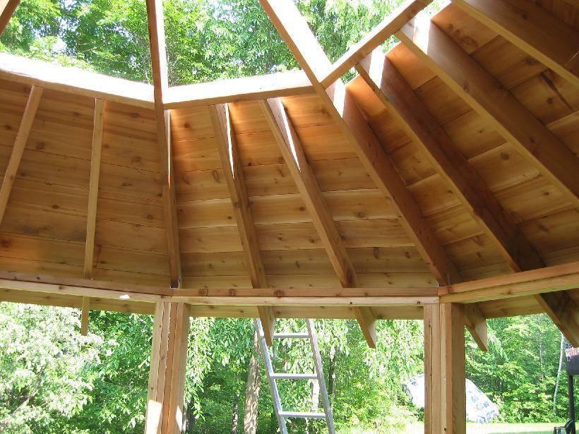 Четырехскатная крыша для беседки: как сделать своими руками, чертеж каркаса вальмовой крыши