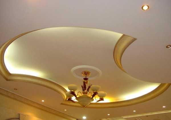 Резные потолки с подсветкой - виды и особенности