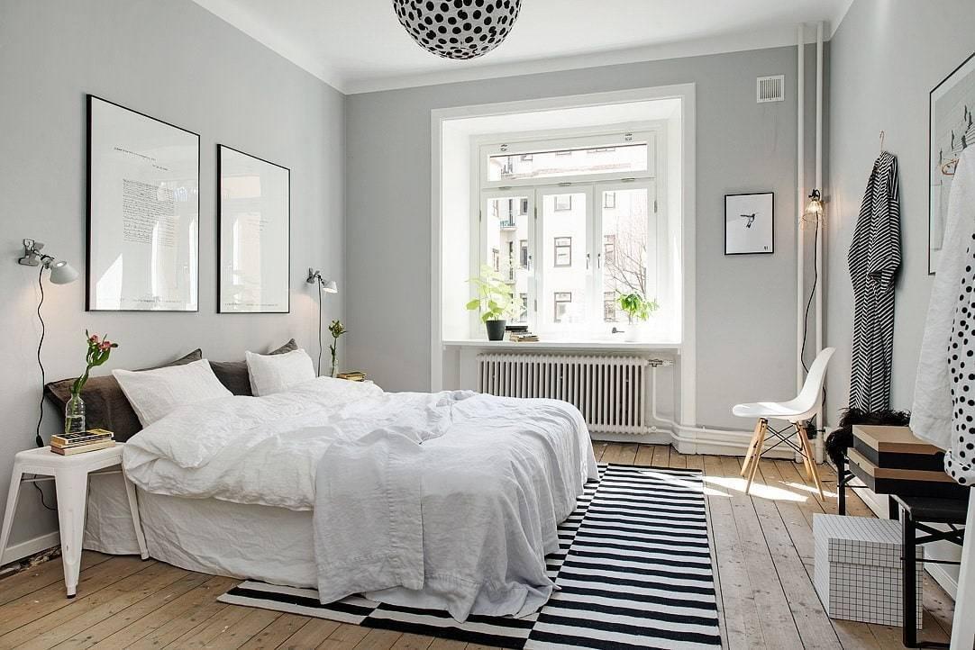 Интерьер спальни в скандинавском стиле, фото – rehouz