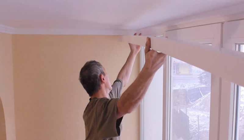 Как повесить потолочные гардины для штор на разные виды потолков