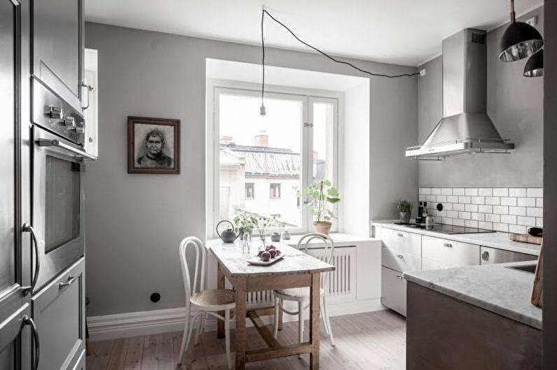 Серая кухня в интерьере – фото дизайна кухонь в серых тонах