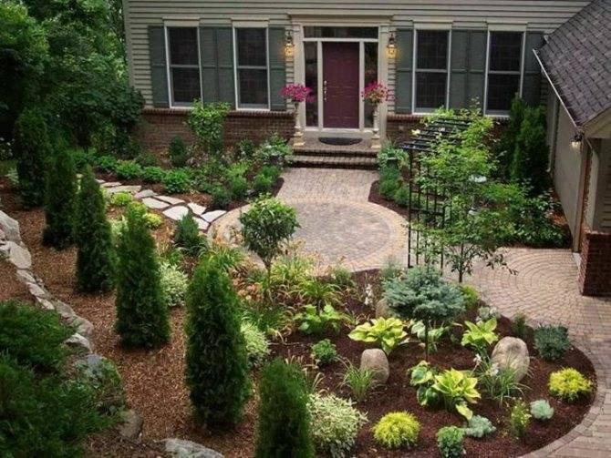 Палисадник перед домом: 160 фото красивого оформления палисадника