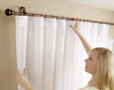 Как повесить карниз для штор на стену или потолок (натяжной) (20 фото)