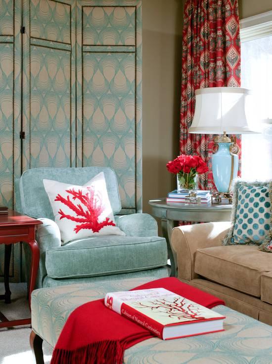 Бирюза в интерьере - фото примеры, сочетания с другими цветами