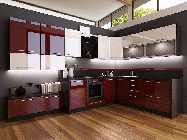 Дизайн кухни синего цвета: сочетание синего с другими оттенками, реальные фото