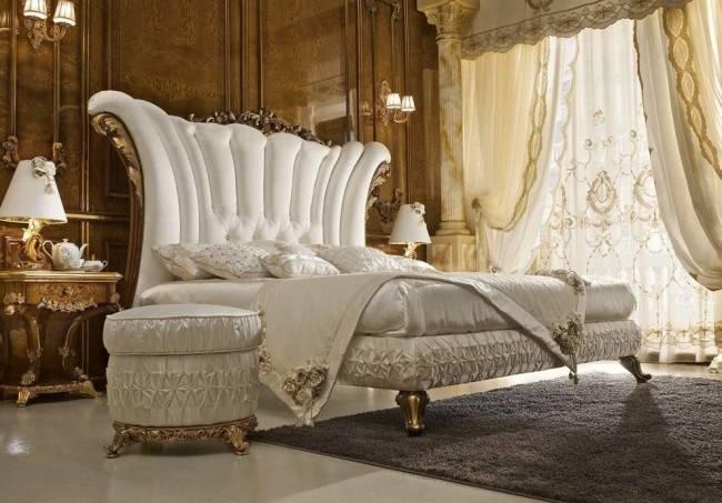 Особенности спальни в стиле барокко (55 фотоидей)
