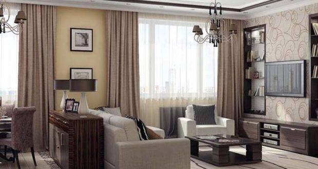 Шторы в полоску: фото в интерьере в гостиную, в горизонтальную и вертикальную, ткань