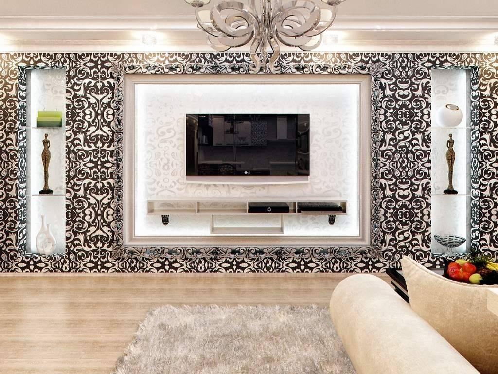 Телевизор в интерьере гостиной - дизайн и оформление тв зоны (с фото)