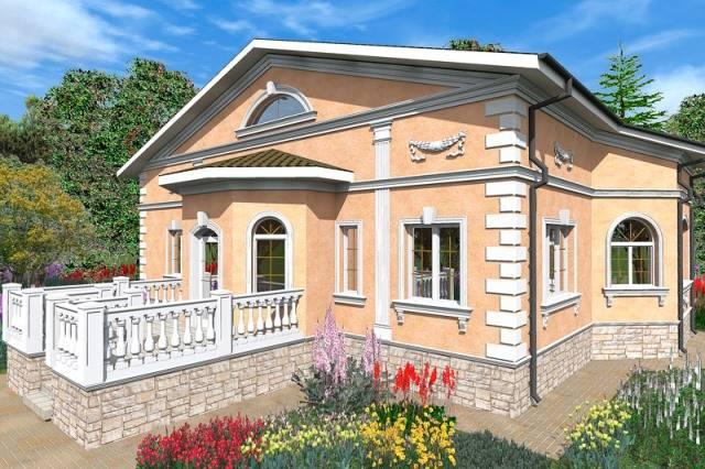 Классический стиль в частной архитектуре, фото