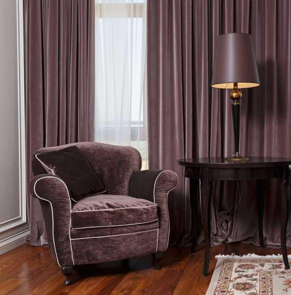 Фиолетовые шторы — 1 фото идей дизайна. Варианты идеального сочетания в интерьере.