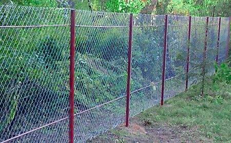 Забор из сетки рабицы своими руками: как установить ограждение