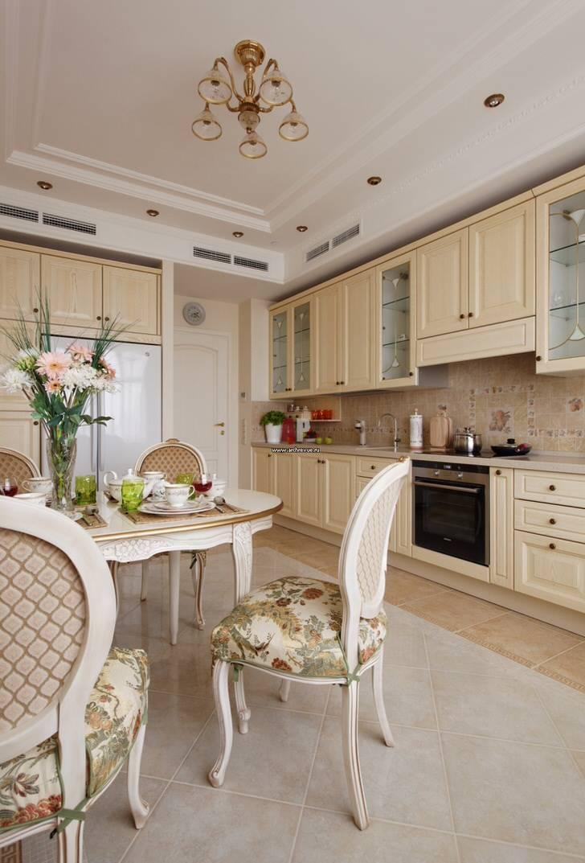 Кухни в стиле неоклассика,правила оформления,элементы декора в интерьере