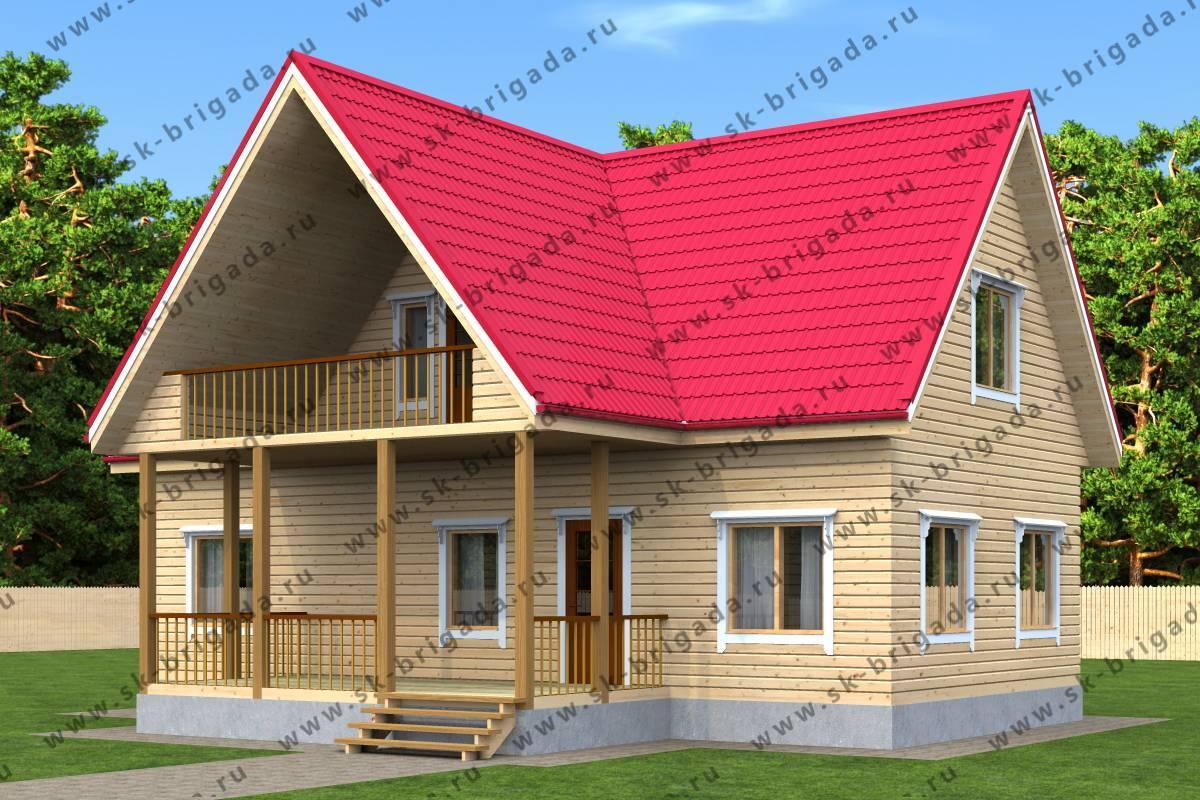 Проекты загородных домов с мансардой и балконом + примеры и фото