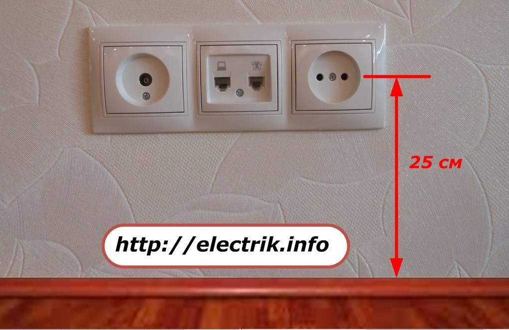 Высота установки розеток в квартире: стандарты и правильное размещение