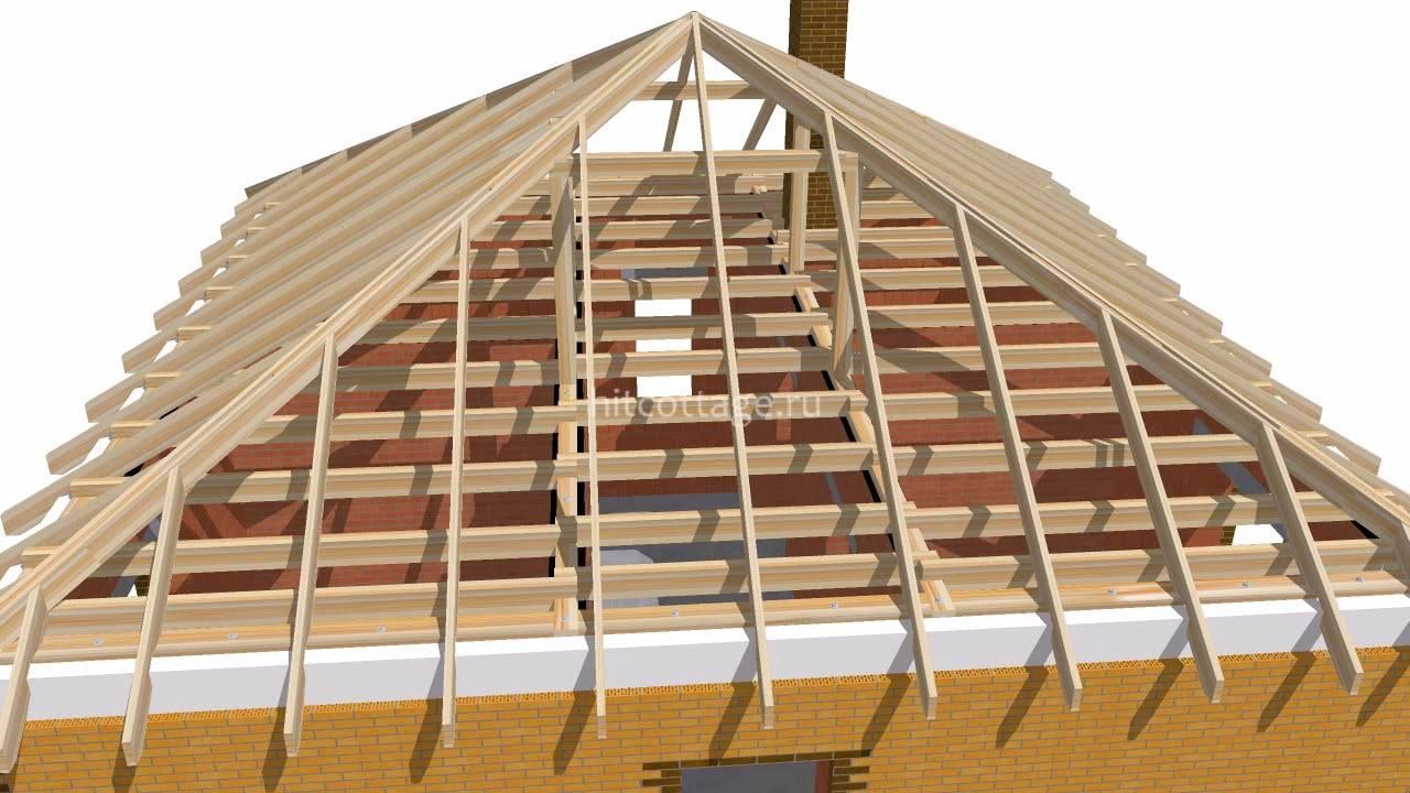 Четырёхскатная крыша и стропильная система к ней: как сделать своими руками