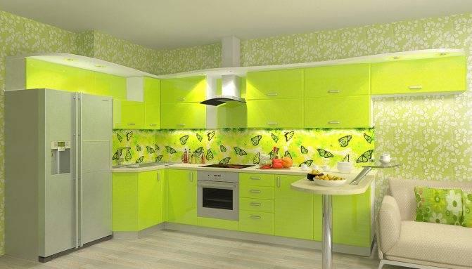 Кухни цвета Лайм – сочный интерьер с оптимистичным настроением