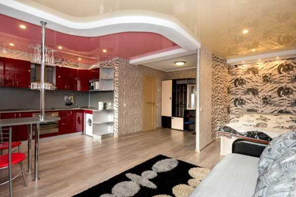 Интерьер однокомнатной квартиры 2017