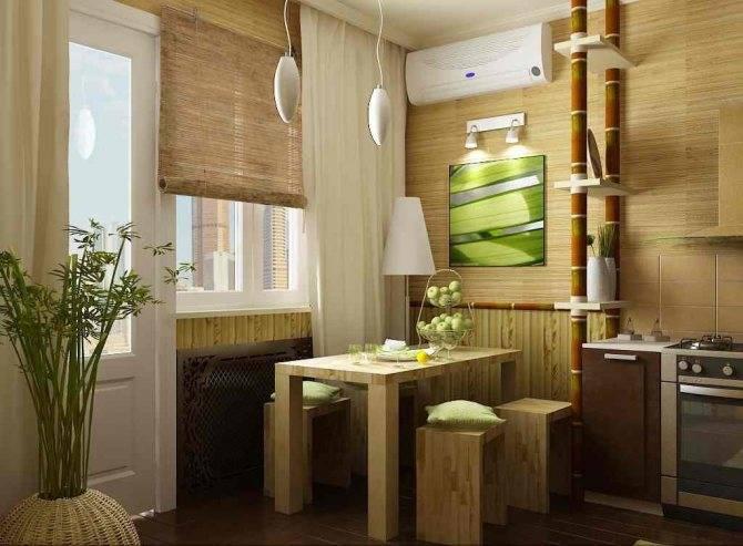 Бамбуковые обои: плюсы и минусы, отзывы, фото в интерьере кухни » интер-ер.ру