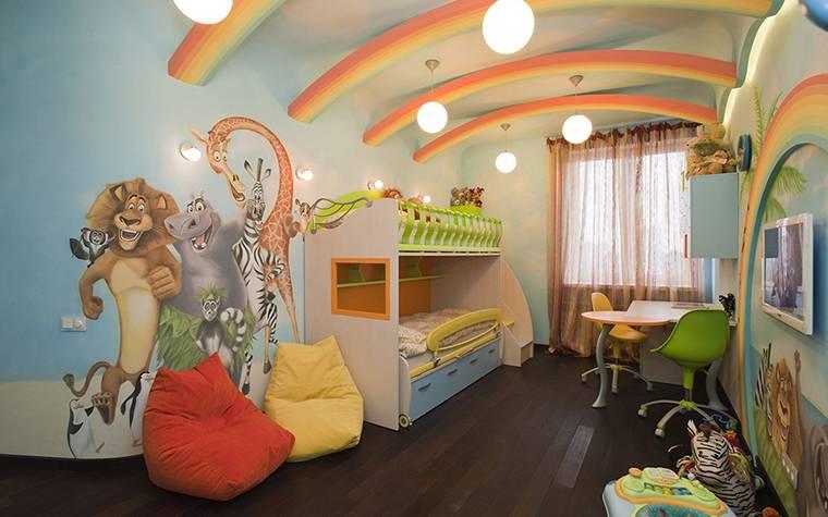 Дизайн детской комнаты — 45 фото современных идей -