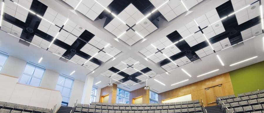 Подвесной потолок грильято: монтаж решетчатого навесного потолка, ячеистая решетка на потолке