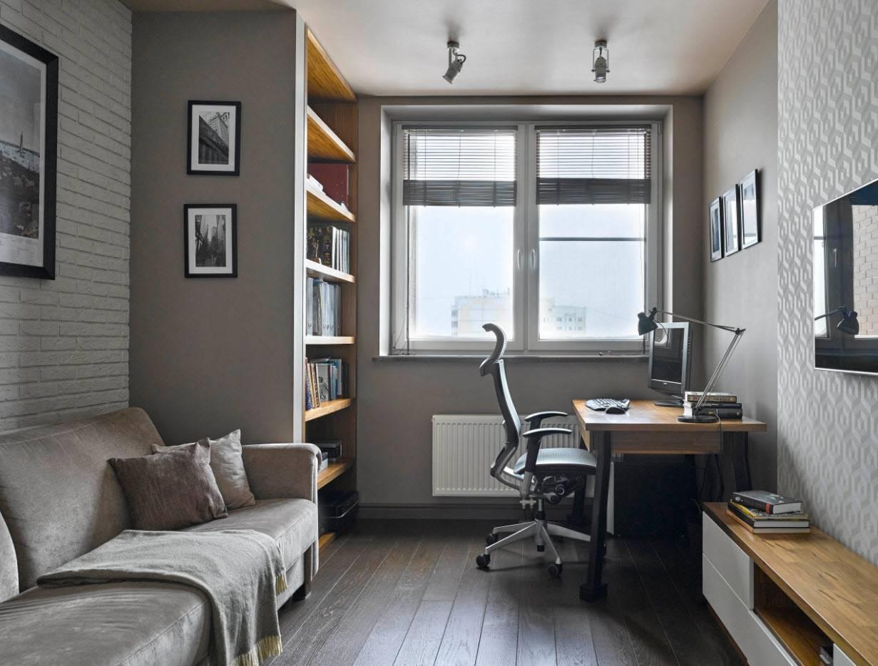Дизайн домашнего кабинета (71 фото): интерьер рабочего пространства в квартире и в частном доме, обои и другие материала для современной обстановки