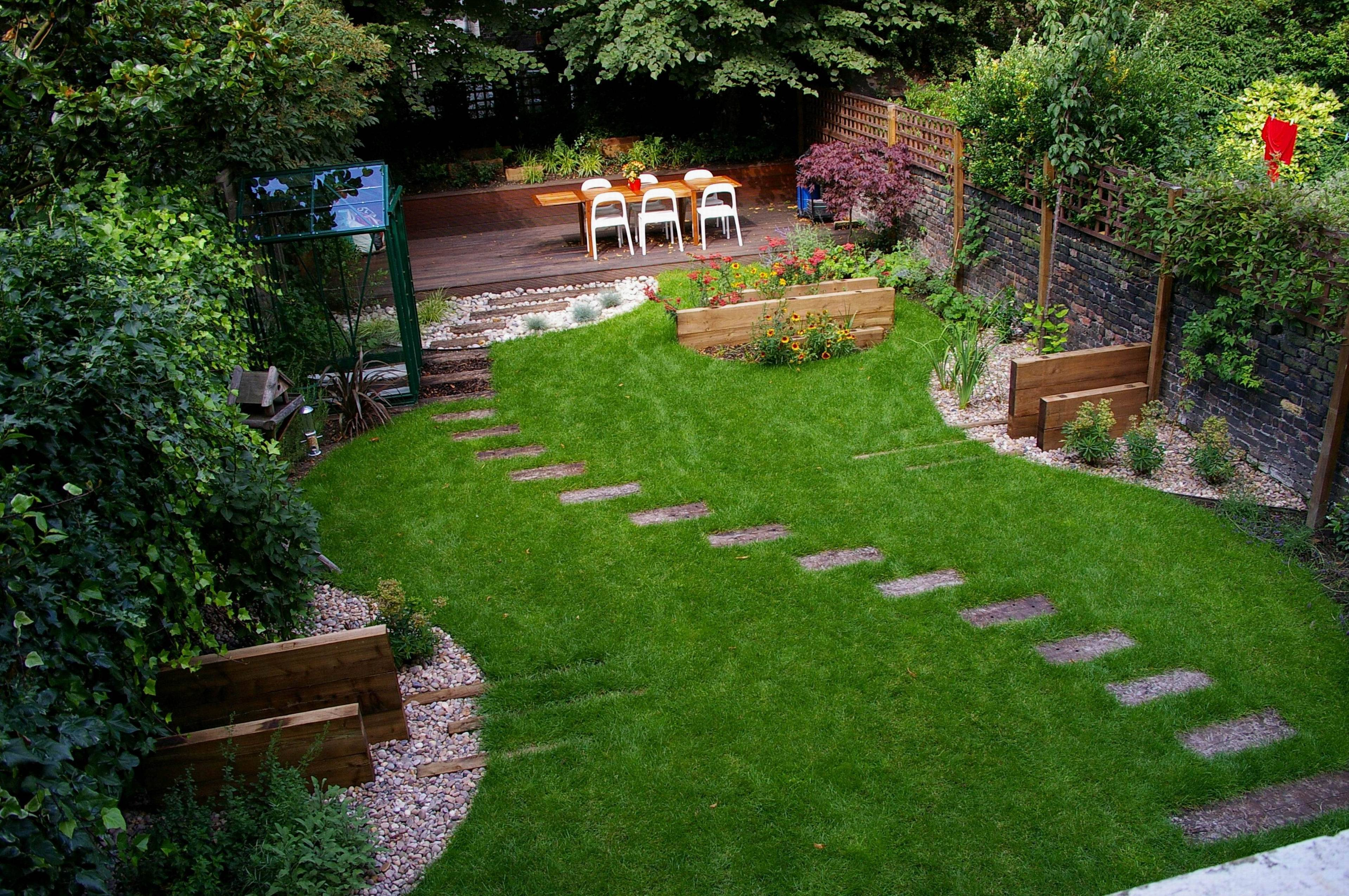 Ландшафтный дизайн участка площадью 4 сотки ( 50 фото): проект узкого вытянутого дворика