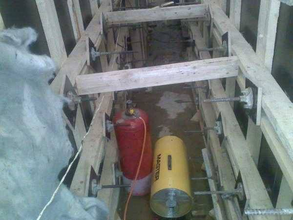 Заливка бетона зимой: способы прогрева, температура и др. хитрости