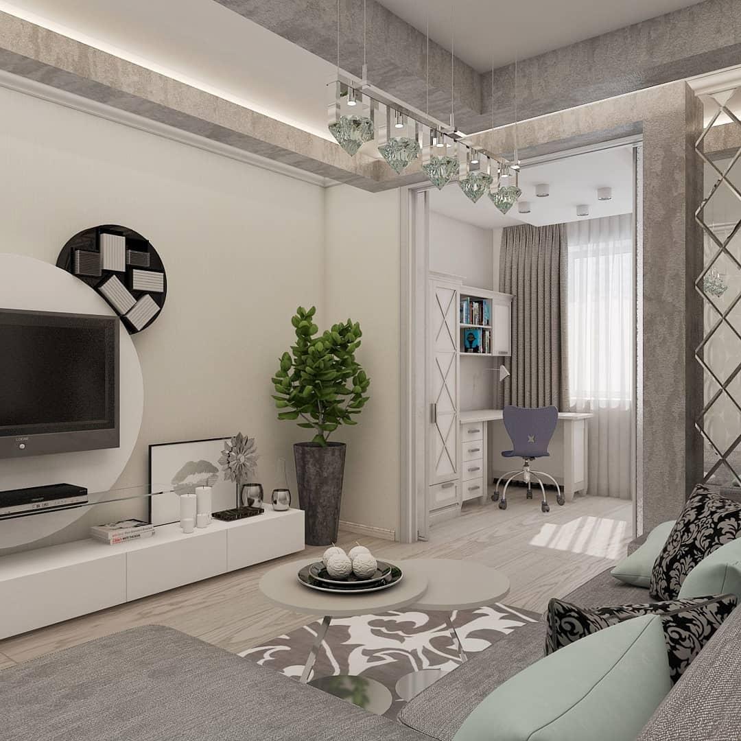 Разделение комнаты на 2 зоны спальни и гостиной: фото и варианты зонирования