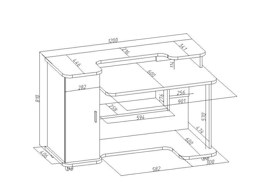 Понятная инструкция о том, как просто сделать компьютерный стол, соответствующий вашим запросам