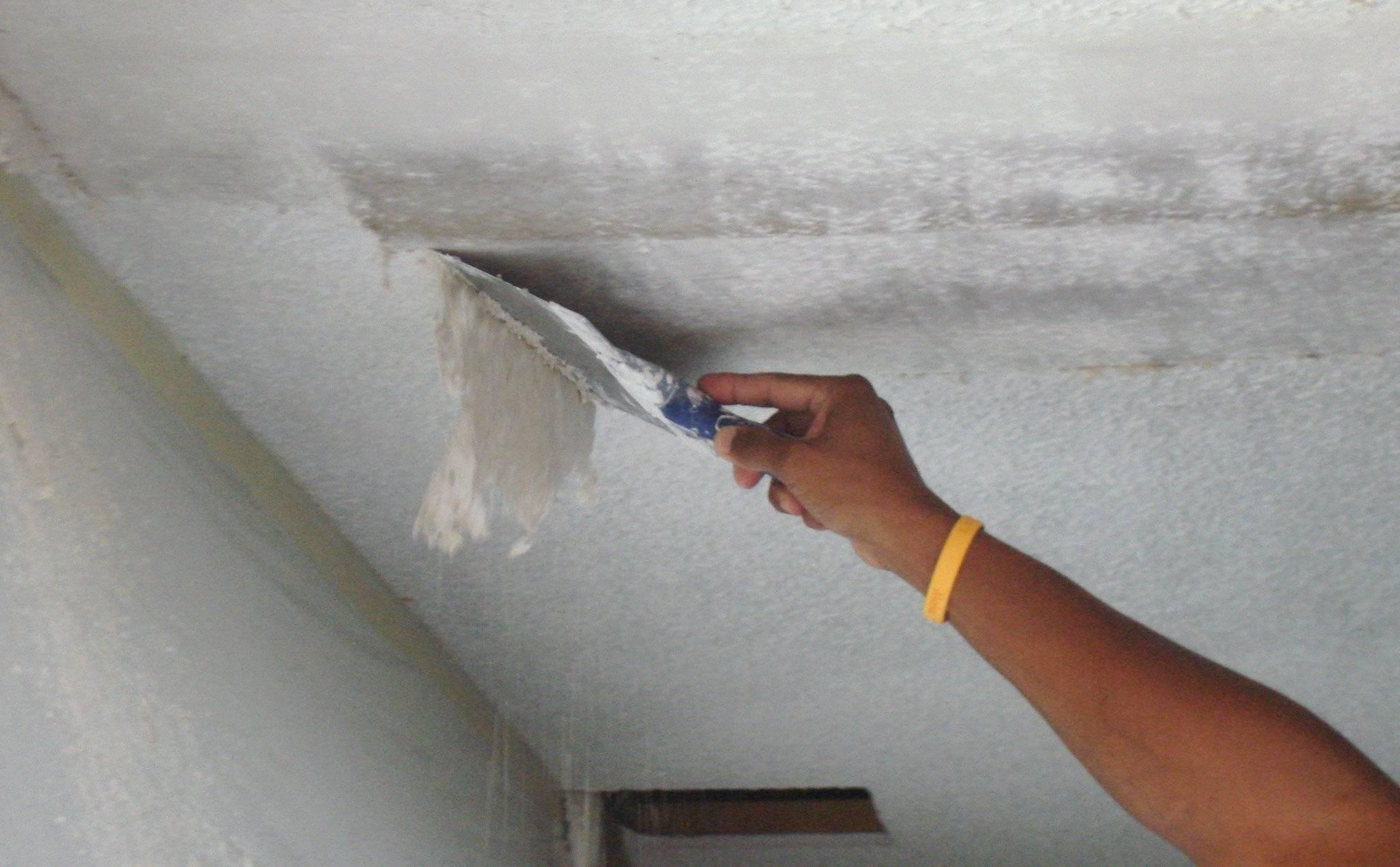 Как быстро и эффективно смыть побелку с потолка и средства для очистки