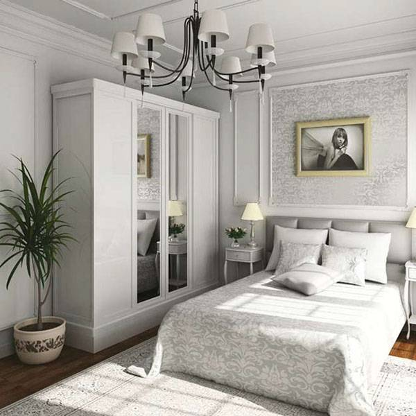 Белый шкаф в спальне (49 фото): белый глянец в стиле «классика», распашные классические шкафы с зеркалом