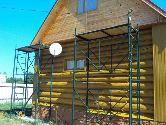 Как сделать строительные леса своими руками - схема и сборка конструкции