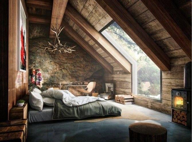 Спальня на мансарде: дизайнерские идеи для лучшего интерьера (110 фото)