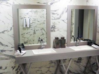 Мрамор в интерьере (61 фото): дизайн ванной комнаты с мрамором и деревом, гостиной и современной кухни, с чем сочетается