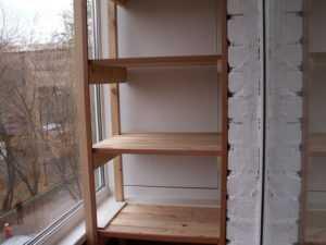 Как сделать полки на балконе и лоджии своими руками дешево и красиво
