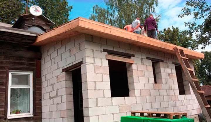 Каркасная пристройка к дому (28 фото): пристрой к деревянному коттеджу своими руками - пошаговая инструкция