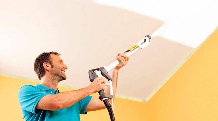 Как освежить или покрасить побеленный потолок?