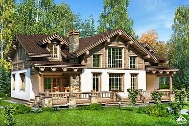 Комбинированные дома из камня и дерева (51 фото): проекты, преимущества, особенности строительства - happymodern.ru