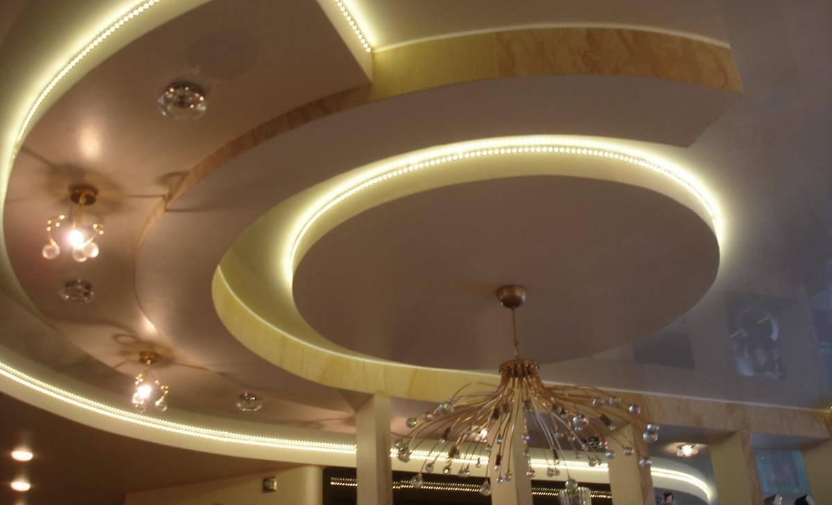 Потолки из гипсокартона многоуровневые: трехуровневый потолок, многоярусный, как сделать подвесной потолок из гкл, устройство каркаса