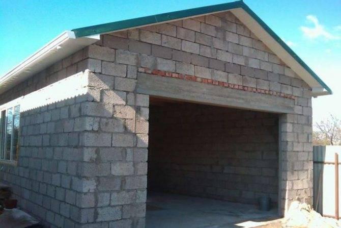 Сарай из пеноблоков на даче: как построить своими руками