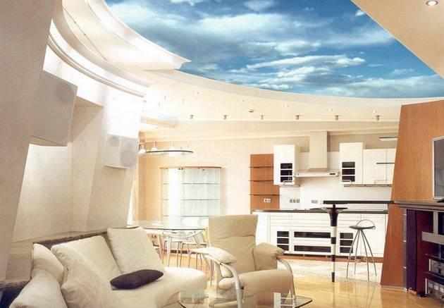 Потолок в спальне: материалы отделки, дизайн, виды и особенности выбора цвета (115 фото)