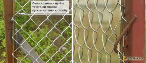 Как сделать забор из сетки рабицы — новые методы установки + расчет