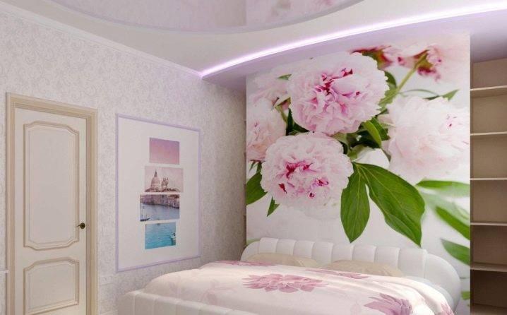 Фотообои в спальню над кроватью: фото, дизайн, идеи, решения