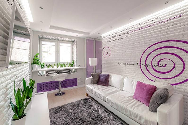 Дизайн спальни в сиреневых тонах: особенности цвета в интерьере