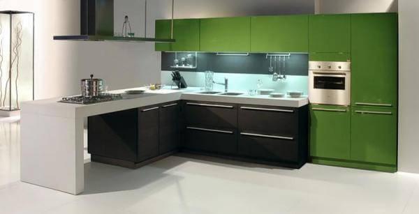 Фасады для кухни в алюминиевой рамке: реальные фото примеры, плюсы и отзывы