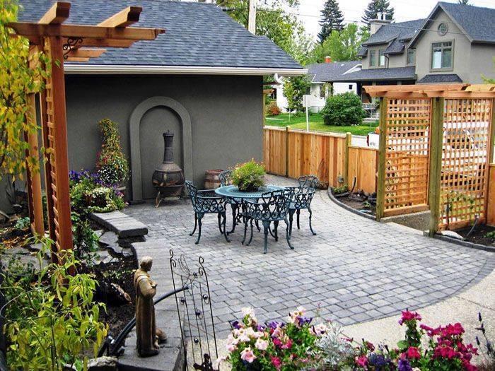 Ландшафтный дизайн двора частного дома (177 фото): современные красивые дворики с беседкой и проекты ландшафта придомовых территорий