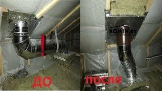 Как выполнить переход с дымового патрубка камина на керамический дымоход большего диаметра